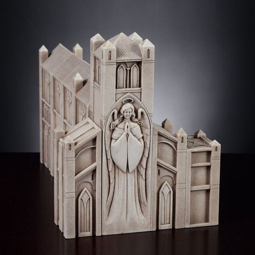 Pillars - Cathedral with Nativity Set